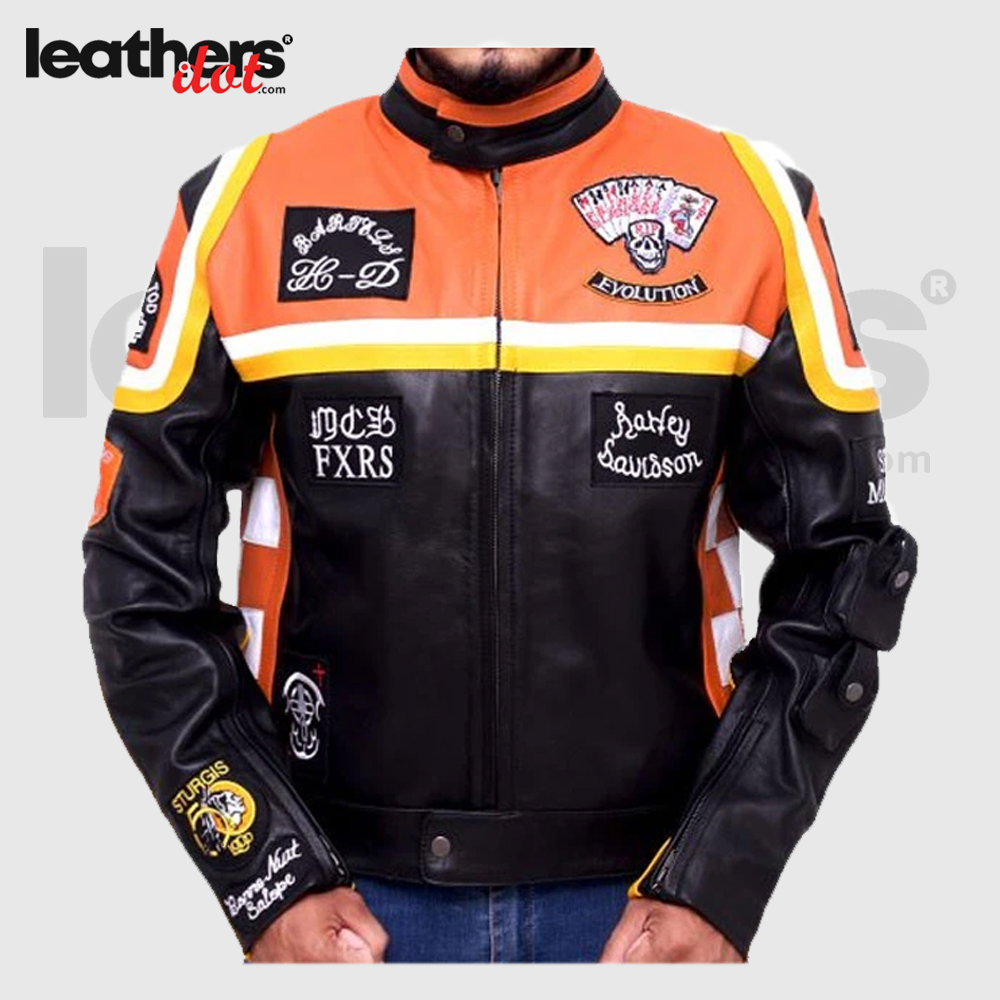 HDDM-Mickey-Rourke-Don-Johnson-Vintage-Motorcycle-Biker-Real-Leather-Jacket
