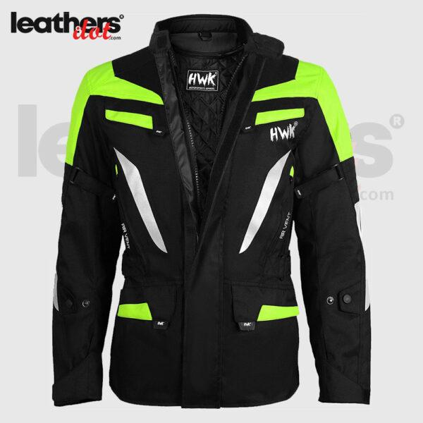 High-Vis Green Adventure Men's Motorcycle Adv Dual Sport Racing Jacket