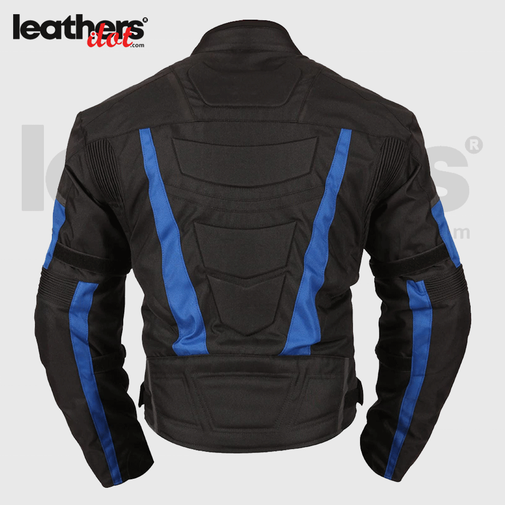 Men Cordura CE approved armor Waterproof Motorcycle Blue Jacket