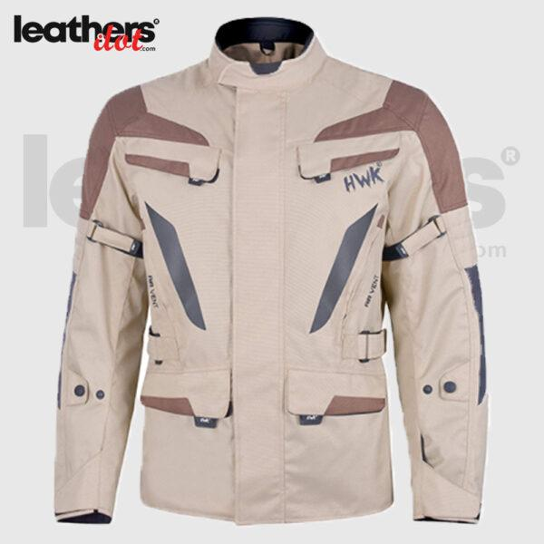 Touring Men's Motorcycle Adv Dual Sport Racing CE Armored HWK Jacket