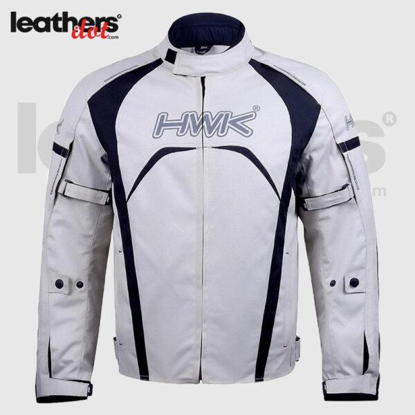 White Textile Racing Motorbike Hi-Vis CE Armored Waterproof Jackets
