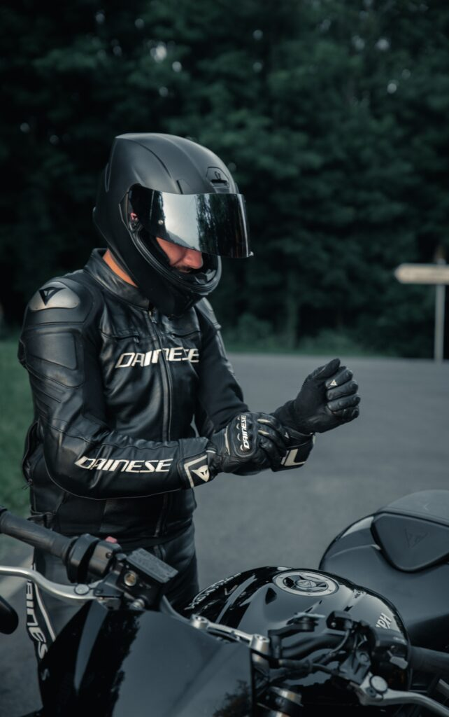 mens black leather biker jacket -Dotleathers