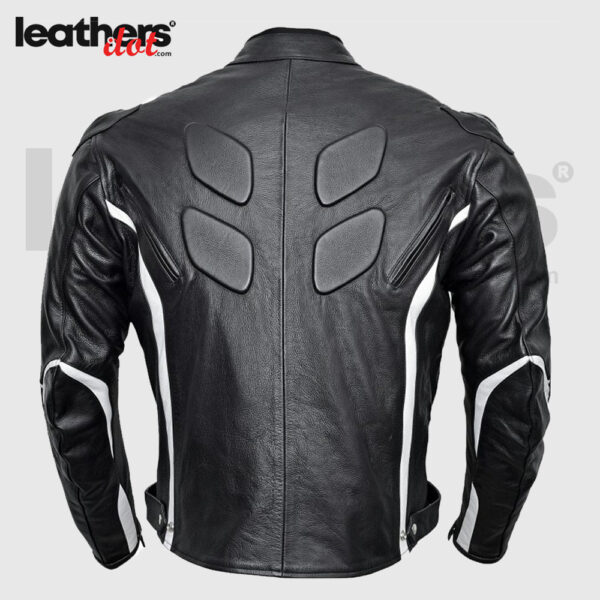Cowhide Racing Leather Motorcycle Jacket with CE Body Armor