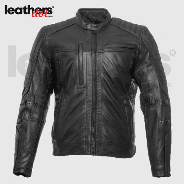 John Doe ROADSTER XTM Motorcycle Leather Jacket - Black