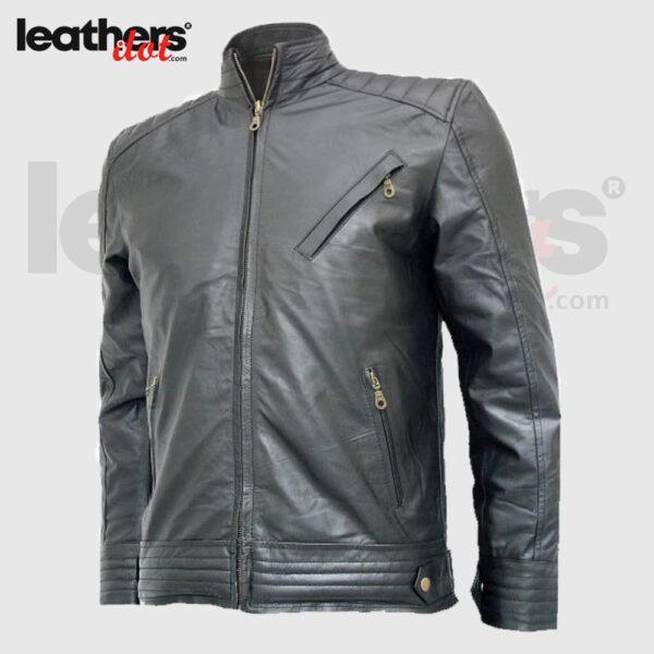 The Bourne Legacy Jeremy Renner Black Biker Leather Jacket