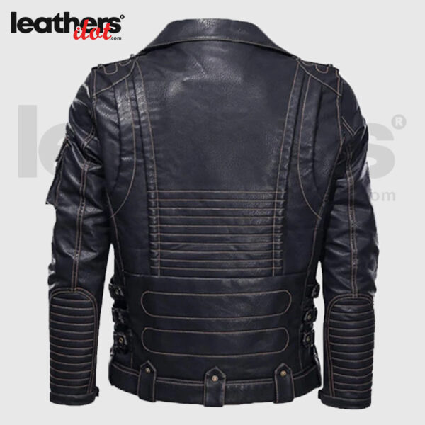Waterproof Leather Motorcycle Leather Jacket in Fossil Color